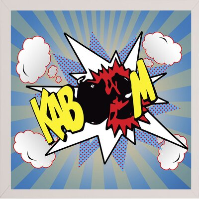 'Kaboom 2' Graphic Art Print Format: Affordable White Medium Framed Paper, Size: 21.75