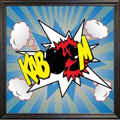 'Kaboom 2' Graphic Art Print Format: Black Grande Framed Paper, Size: 21.75