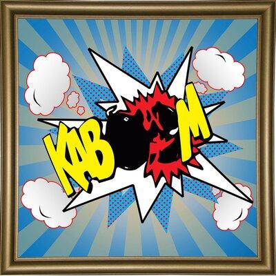 'Kaboom 2' Graphic Art Print Format: Bistro Gold Framed Paper, Size: 21.75