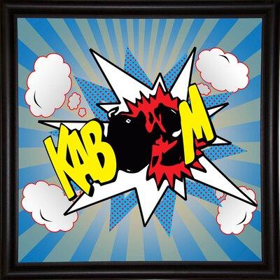 'Kaboom 2' Graphic Art Print Format: Bistro Espresso Framed Paper, Size: 21.75
