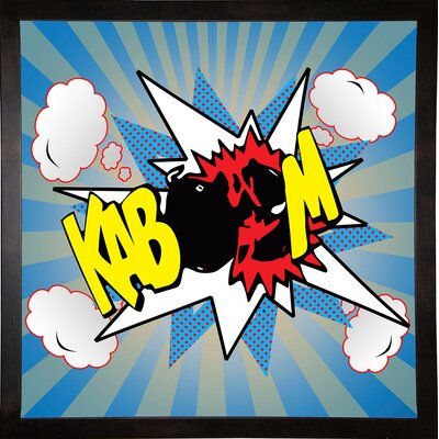 'Kaboom 2' Graphic Art Print Format: Cafe Espresso Framed Paper, Size: 21.75