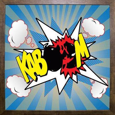 'Kaboom 2' Graphic Art Print Format: Cafe Mocha Framed Paper, Size: 21.75