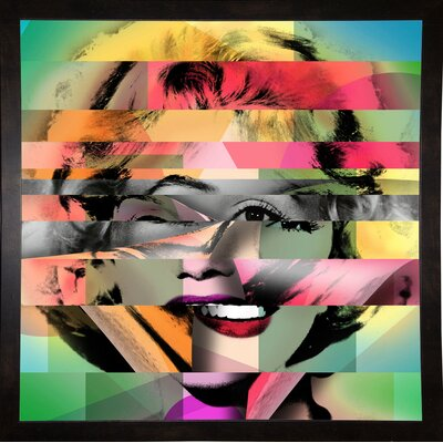 'Marilyn 5' Graphic Art Print Format: Affordable Black Medium Framed Paper, Size: 21.75