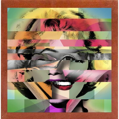 'Marilyn 5' Graphic Art Print Format: Affordable Canadian Walnut Medium Framed Paper, Size: 21.75