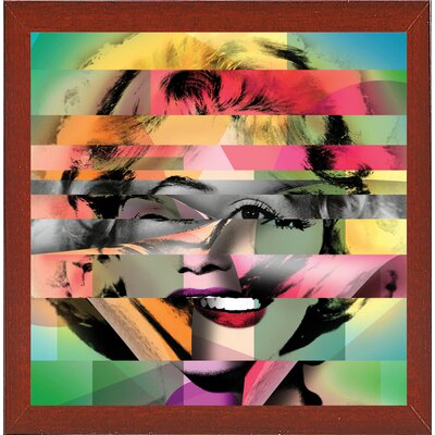 'Marilyn 5' Graphic Art Print Format: Affordable Red Mahogany Medium Framed Paper, Size: 21.75