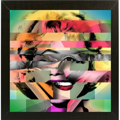 'Marilyn 5' Graphic Art Print Format: Affordable Brazilian Walnut Medium Framed Paper, Size: 21.75