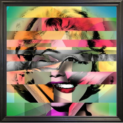 'Marilyn 5' Graphic Art Print Format: Black Grande Framed Paper, Size: 21.75