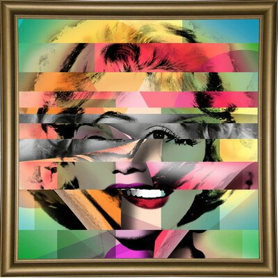 'Marilyn 5' Graphic Art Print Format: Bistro Gold Framed Paper, Size: 21.75