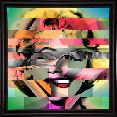 'Marilyn 5' Graphic Art Print Format: Bistro Espresso Framed Paper, Size: 21.75