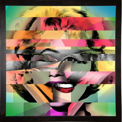 'Marilyn 5' Graphic Art Print Format: Cafe Espresso Framed Paper, Size: 21.75