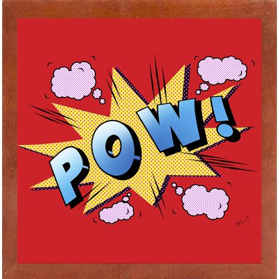 'Pow' Graphic Art Print Format: Affordable Canadian Walnut Medium Framed Paper, Size: 23.25