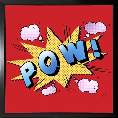 'Pow' Graphic Art Print Format: Budget Saver Framed Paper, Size: 23.25