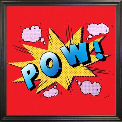 'Pow' Graphic Art Print Format: Black Grande Framed Paper, Size: 23.25