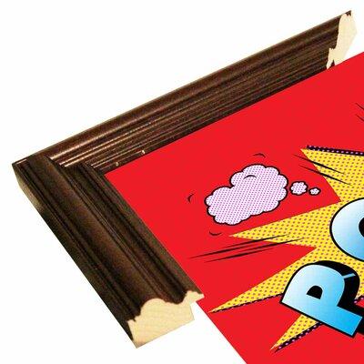 'Pow' Graphic Art Print Format: Cherry Grande Framed Paper, Size: 23.25