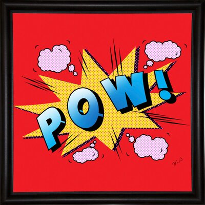 'Pow' Graphic Art Print Format: Bistro Espresso Framed Paper, Size: 23.25