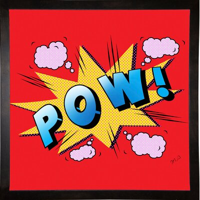 'Pow' Graphic Art Print Format: Cafe Espresso Framed Paper, Size: 23.25