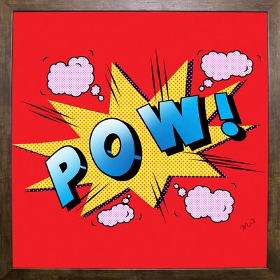 'Pow' Graphic Art Print Format: Cafe Mocha Framed Paper, Size: 23.25