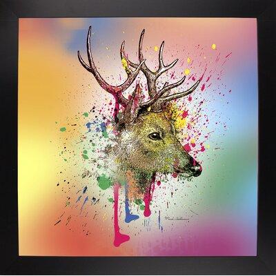 'Deer 6' Graphic Art Print Format: Affordable Black Large Framed Paper, Size: 23.25