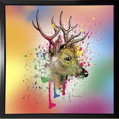 'Deer 6' Graphic Art Print Format: Bistro Espresso Framed Paper, Size: 23.25