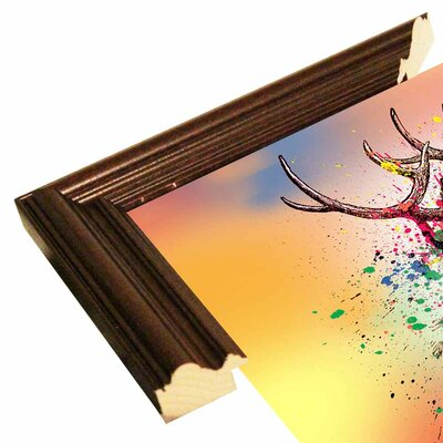 'Deer 6' Graphic Art Print Format: Cherry Grande Framed Paper, Size: 23.25