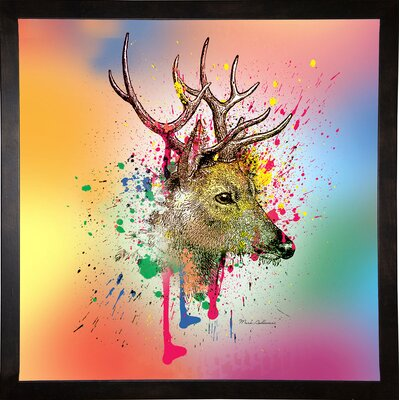 'Deer 6' Graphic Art Print Format: Cafe Espresso Framed Paper, Size: 23.25