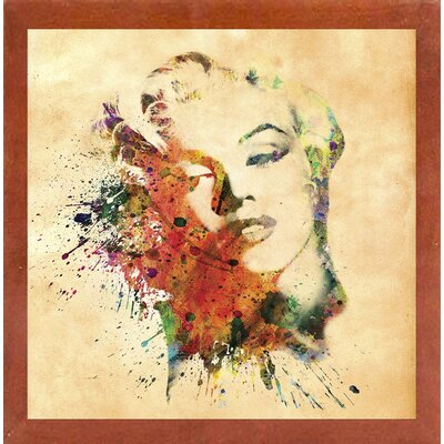'Marilyn 10' Graphic Art Print Format: Affordable Canadian Walnut Medium Framed Paper, Size: 23.25