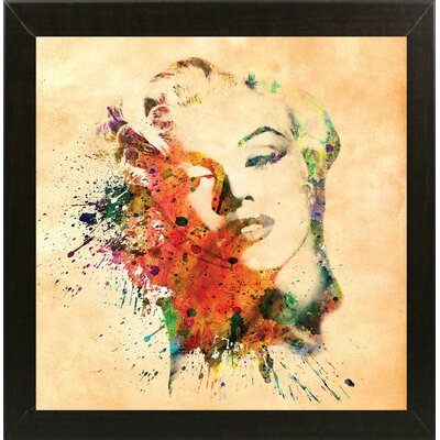 'Marilyn 10' Graphic Art Print Format: Affordable Brazilian Walnut Medium Framed Paper, Size: 23.25