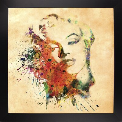 'Marilyn 10' Graphic Art Print Format: Affordable Black Large Framed Paper, Size: 23.25