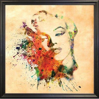 'Marilyn 10' Graphic Art Print Format: Black Grande Framed Paper, Size: 23.25