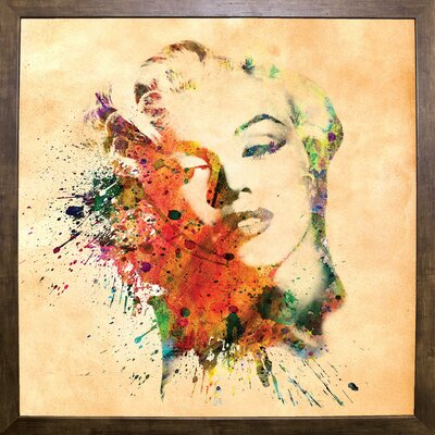 'Marilyn 10' Graphic Art Print Format: Cafe Mocha Framed Paper, Size: 23.25