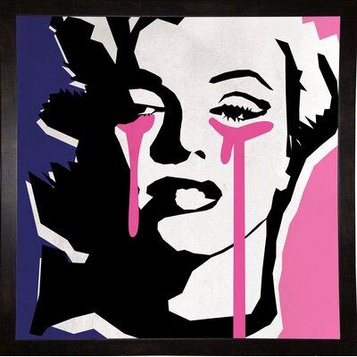 'Marilyn 3' Graphic Art Print Format: Affordable Black Medium Framed Paper, Size: 23.25