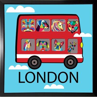'London 2' Graphic Art Print Format: Budget Saver Framed Paper, Size: 23.25