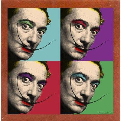 'Salvador Dali 2' Graphic Art Print Format: Affordable Canadian Walnut Medium Framed Paper, Size: 23.25