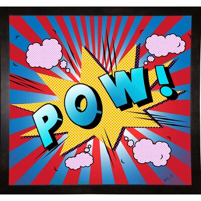 'Pow 5' Graphic Art Print Format: Affordable Black Medium Framed Paper, Size: 23.25