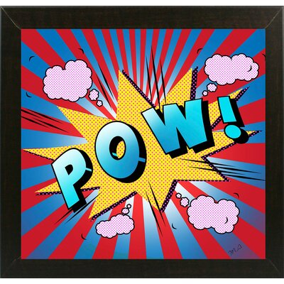 'Pow 5' Graphic Art Print Format: Affordable Brazilian Walnut Medium Framed Paper, Size: 23.25
