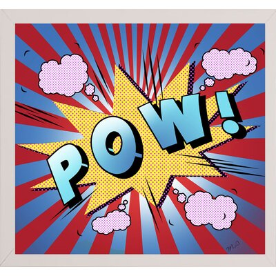 'Pow 5' Graphic Art Print Format: Affordable White Medium Framed Paper, Size: 23.25