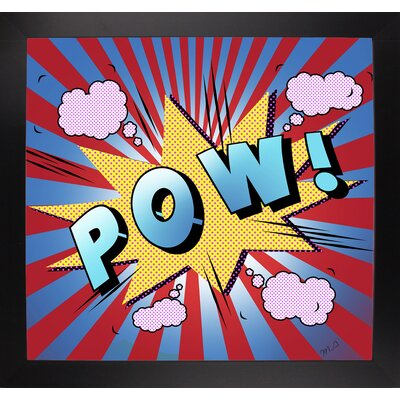 'Pow 5' Graphic Art Print Format: Affordable Black Large Framed Paper, Size: 23.25