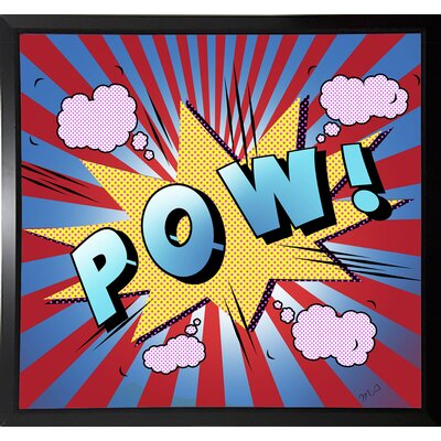'Pow 5' Graphic Art Print Format: Budget Saver Framed Paper, Size: 23.25