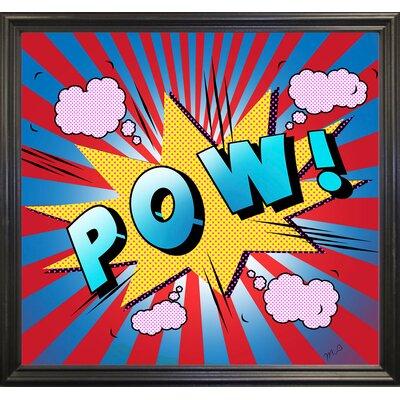 'Pow 5' Graphic Art Print Format: Black Grande Framed Paper, Size: 23.25