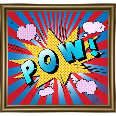 'Pow 5' Graphic Art Print Format: Bistro Gold Framed Paper, Size: 23.25