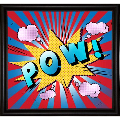 'Pow 5' Graphic Art Print Format: Bistro Espresso Framed Paper, Size: 23.25