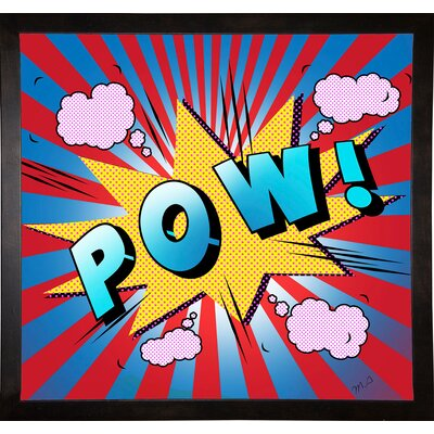 'Pow 5' Graphic Art Print Format: Cafe Espresso Framed Paper, Size: 23.25