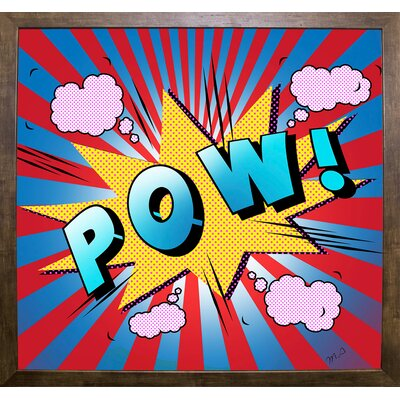 'Pow 5' Graphic Art Print Format: Cafe Mocha Framed Paper, Size: 23.25
