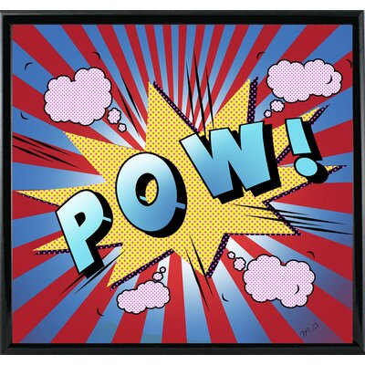 'Pow 5' Graphic Art Print Format: Shiny Black Metal Framed Paper, Size: 23.25