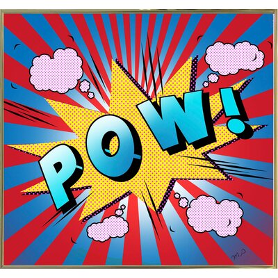 'Pow 5' Graphic Art Print Format: Gold Metal Framed Paper, Size: 23.25