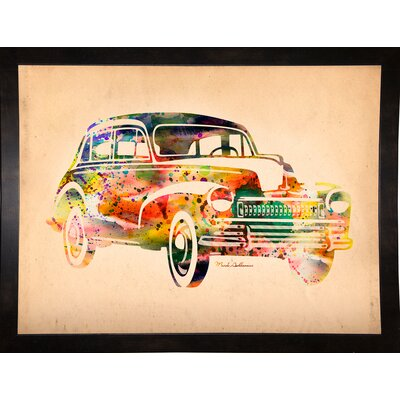 'Folsfagen Car 2' Graphic Art Print Format: Affordable Black Medium Framed Paper, Size: 23.25