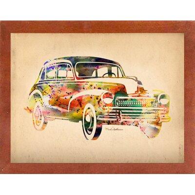 'Folsfagen Car 2' Graphic Art Print Format: Affordable Canadian Walnut Medium Framed Paper, Size: 23.25