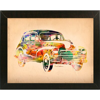 'Folsfagen Car 2' Graphic Art Print Format: Affordable Brazilian Walnut Medium Framed Paper, Size: 23.25