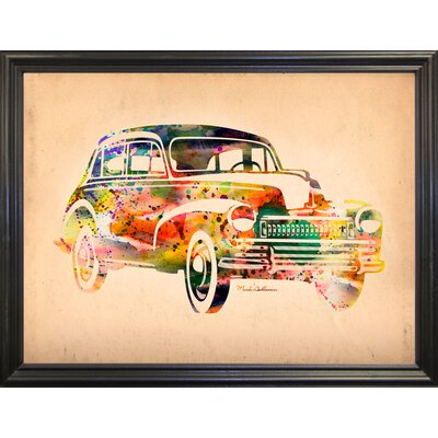 'Folsfagen Car 2' Graphic Art Print Format: Black Grande Framed Paper, Size: 23.25