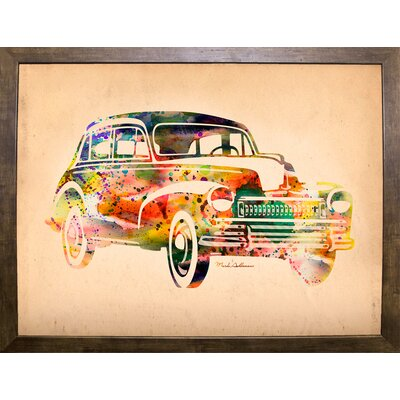'Folsfagen Car 2' Graphic Art Print Format: Cafe Mocha Framed Paper, Size: 23.25